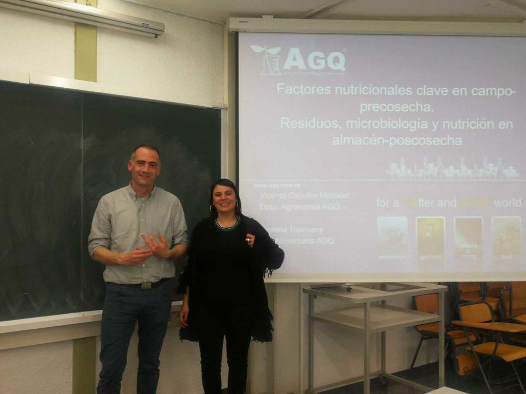 AGQ Labs en curso de Tecnología Poscosecha
