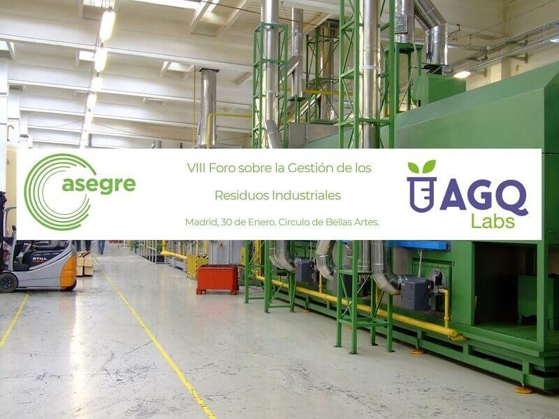 AGQ Labs patrocina el VIII Foro de Residuos Industriales