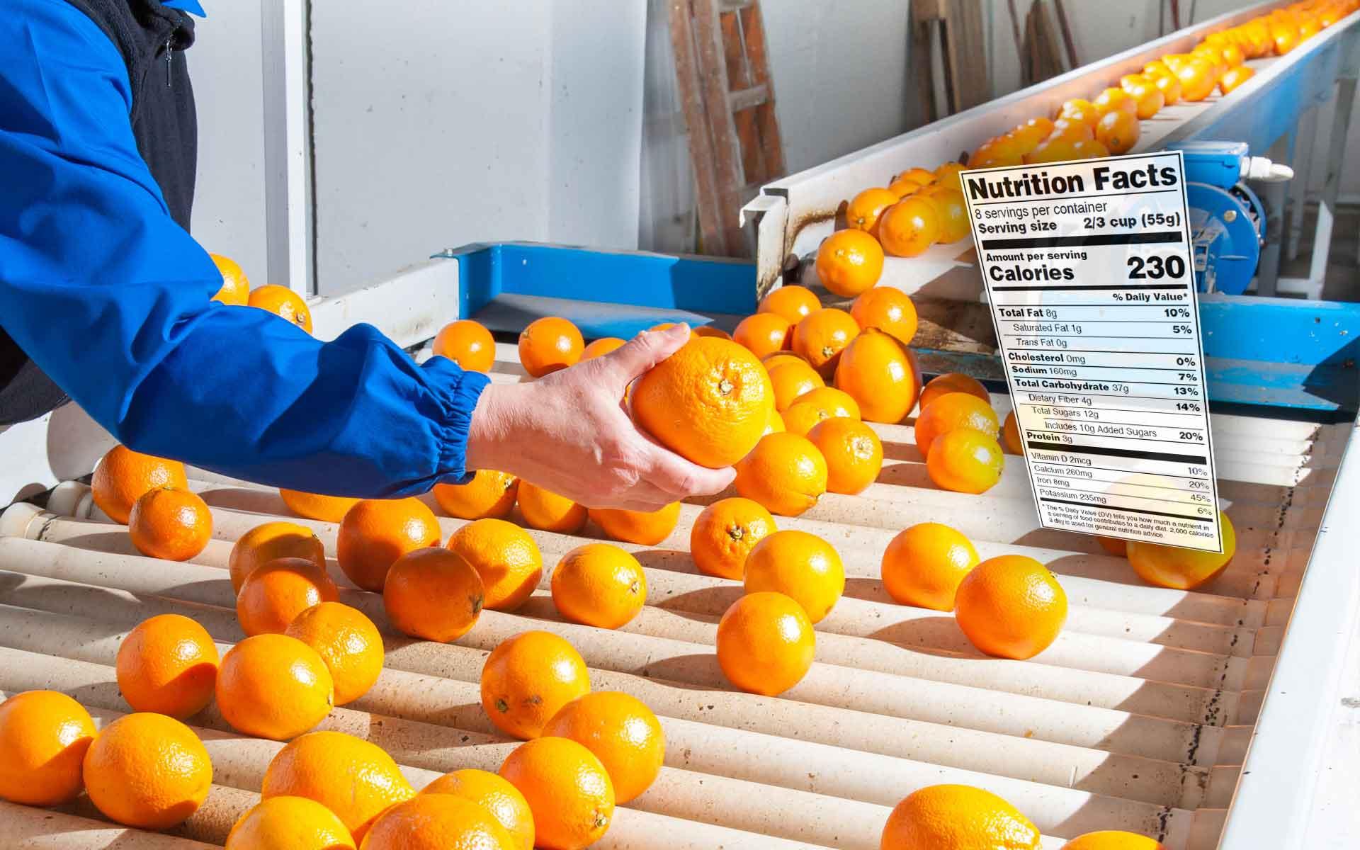 Naranajas, alimentos que forman parte del análisis de valores nutricionales de AGQ Labs Espña