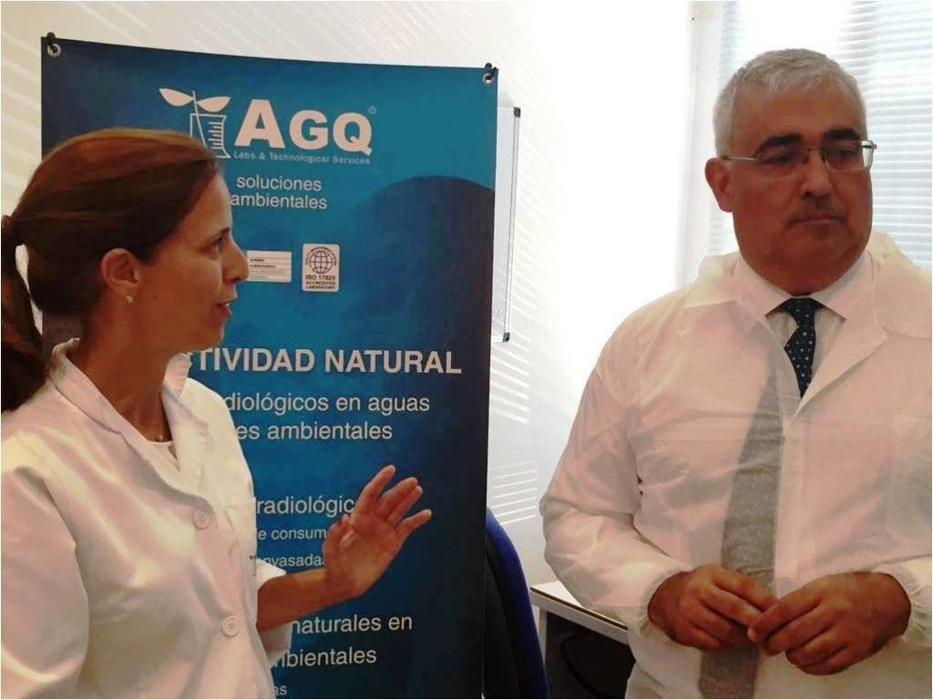 Consejero de Economía de la Junta de Andalucía visita AGQ Labs