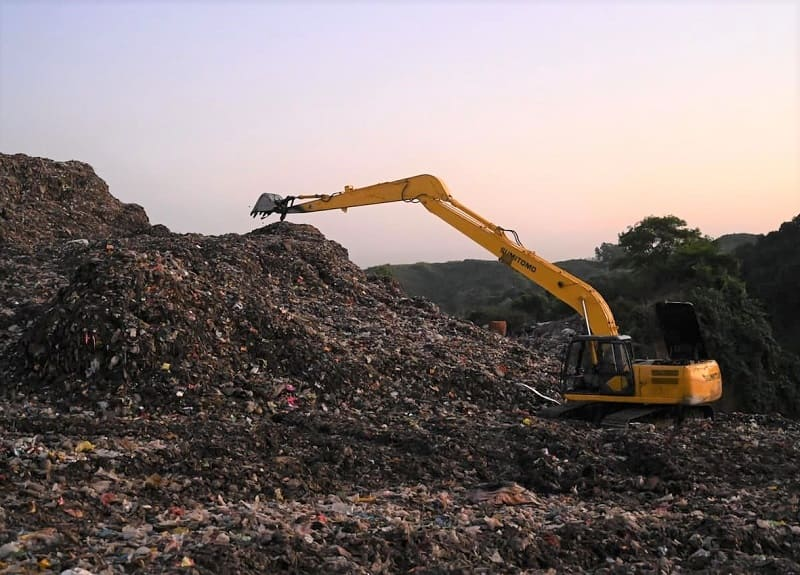 eliminacion de residuos en vertedero