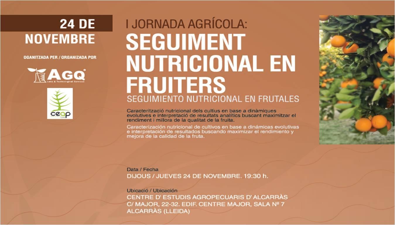 Seguimiento Nutricional de cultivos frutales